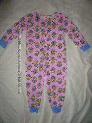 Сдельная пижама раздельная слип флис человек кигуруми хб котон 1-3 года b3ddbdd266b34