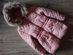 Новая куртка удлиненная еврозима на флисе Джордж George 5-6 лет 110-116 см