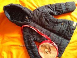 Теплая, очень красивая куртка для девочки, р. 92-98, осень-весна, еврозима