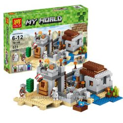 Бела Майнкрафт 10392 конструктор Bela Minecraft My World пустынная станция