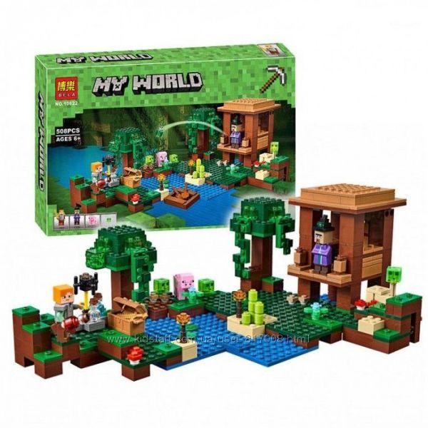 Бела Майнкрафт 10622 конструктор Bela Minecraft My World Хижина ведьмы