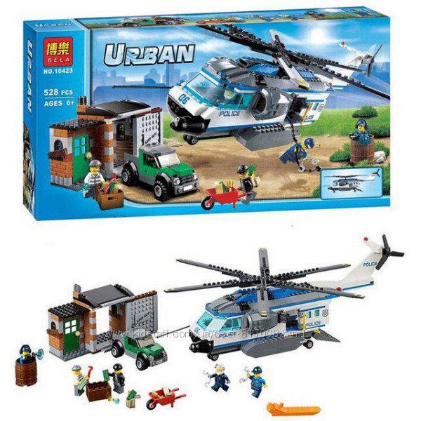 Бела Сити 10423 конструктор Bela Urban City Вертолетный патруль аналог лего