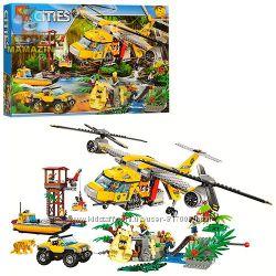Бела Сити конструктор 10713 Bela Cities Вертолёт для доставки в джунгли