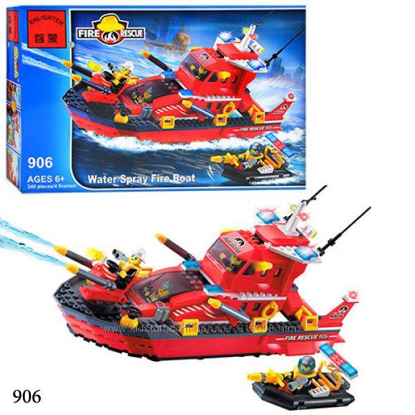 Брик 905 906 Пожарная тревога конструктор Brick Enlighten Fire Rescue