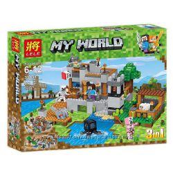Леле Майнкрафт 33191 конструктор Водная застава 3 в 1 Lele Minecraft World