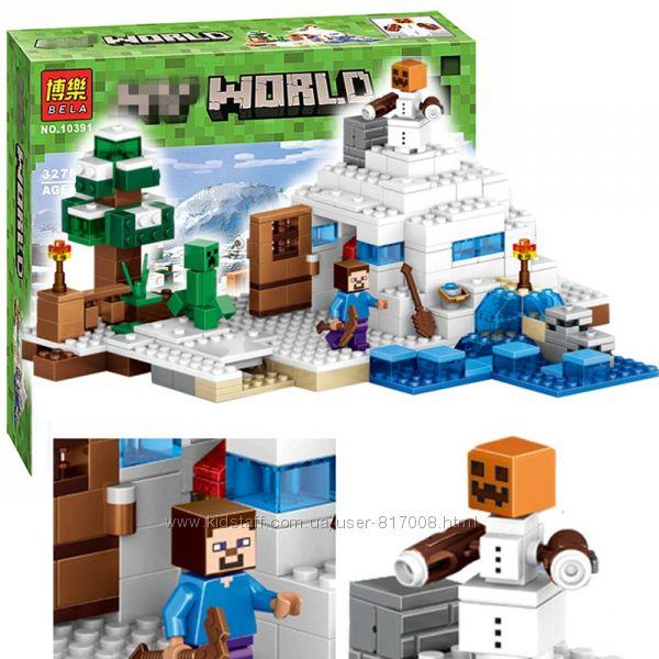 Бела Майнкрафт 10391 конструктор Bela Minecraft My World Снежное убежище