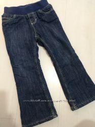 Old navy джинсы на флисе 2-4 года, синие, теплые