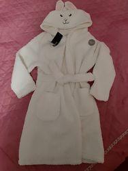Новый теплый плюшевый халат George на 4-5 лет
