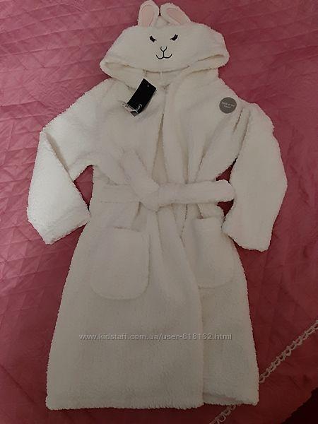 Новый теплый плюшевый халат George на 4-7 лет