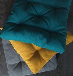 Подушки для крісел, диванів, піддонів, качель. Вибір тканини і розміру.