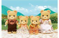 Sylvanian families семья желтых мишек