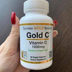 California Gold Nutrition, Gold C, витамин C, 1000 мг,
