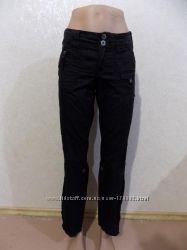 Брюки штаны коттоновые черные фирменные esprit размер 46