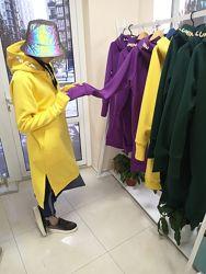 Тёплые платья-худи со светоотражающим принтом-хамелеоном Lumini Люмини