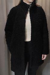 H&M шуба мех искусственный женское легкое пальто курточка хутро штучне