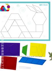 Аппликация танграм из фетра