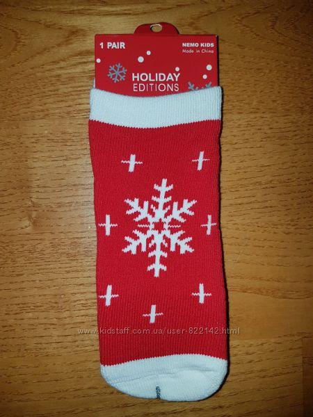 новогодние носки махра