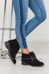 Туфли из натур кожи  замши