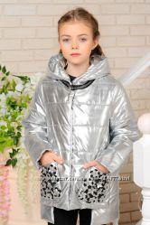 демисезонная куртка Миранда , золото, серебро , розовый металлик