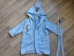 Детский махровый Халат с капюшоном ERK  98-104р