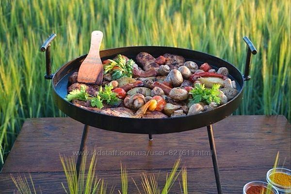 Сковорода из диска бороны для пикника рыбалки туризма