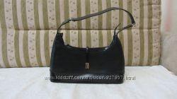 Брендовая итальянская чёрная кожаная сумка Regina Schrecker