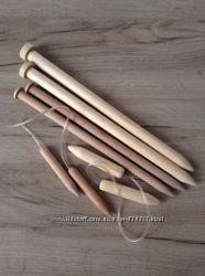 Спицы для вязания толстой пряжи, 15 мм, 20 мм