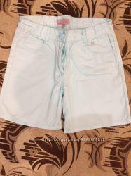Легкие летние шорты мятного цвета р. 140-146