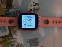 Умные Смарт- Часы детские с телефоном GPS ,  GPS COLOR C020 PINK