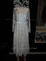 Очень нарядное свадебное платье в стиле ретро  - Vshop- M  - этикетка