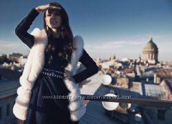Стильное чёрное  платье Love republic в маленьком размере