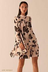 Лёгкое  платье бэби долл с рукавами фонариками love republic 0358076560