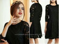Кружевное чёрное платье love republic