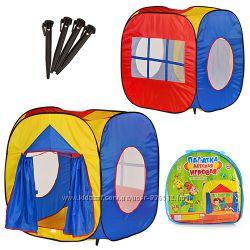 палатка куб 105х100х105см. , вход с занавеской, 3 окна-сетка, в сумке М 0507