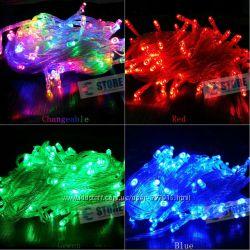 Новогодняя cветодиодная гирлянда LED 500 лампочек 30м 5 цветов