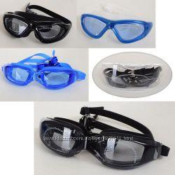 Очки для плавания Model 2390 с чехлом силикон, 2 цвета