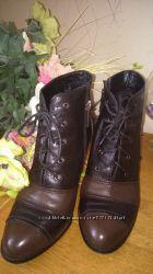 Женские кожанае ботинки 38 размер Польша