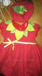 Красивое платье для девочки 2в1 Baby Rico Турция, 62размер