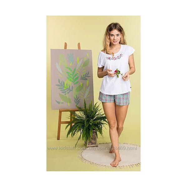 Женская пижама c шортами Key 2 цвета