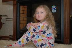 Детская теплая пижама с начесом Собачки