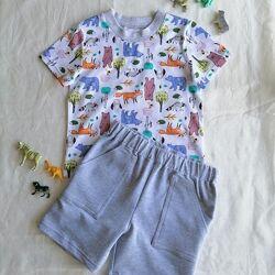 Летний костюм футболка шорты  рост 74 - 116