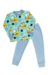 Пижама детская тепллая в ассортименте рост 98-122