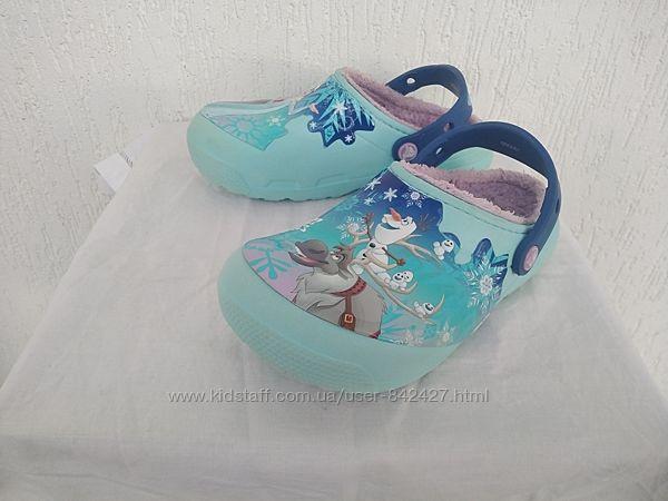Шлепки Crocs Frozen Disney  р.32-32.5