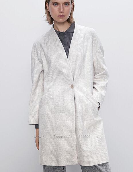 Пальто Zara на одну пуговицу