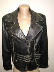 англ 12 евро 38-40 кожа куртка косуха Biba оригинал состояние идеальное