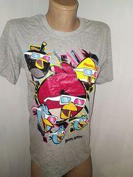 р 164&92170  новая футболка Angry birds рукав от плеча 19 плечи 40 под подмыш