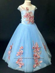 Платье нарядное для любого праздника для девочек от 4 до 7 лет-красивое