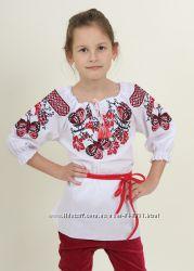 Вышиванка для девочек, батист, от 104 до 152р-красивая, нарядная-Новинка-хи