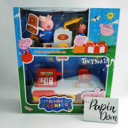 Игровые наборы лего домик касса конструктор Свинки Пеппы с фигурками