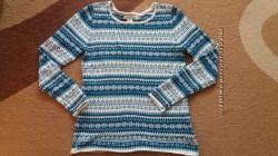 Пуловер р. S. новый бирюзовый с орнаментом H&M р. S